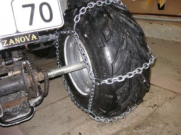 Цепи на колеса для квадроциклов своими руками